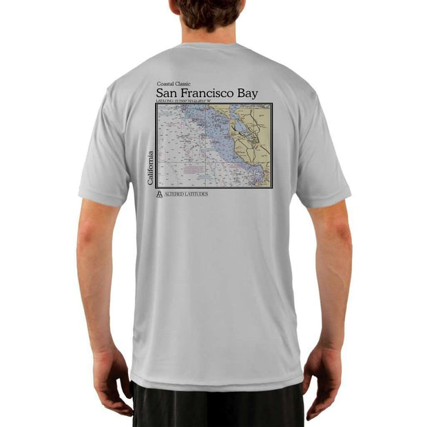Coastal Classics San Francisco Bay Mens Upf 5+ Uv/sun Protection Performance T-Shirt Pearl Grey / X-Small Shirt
