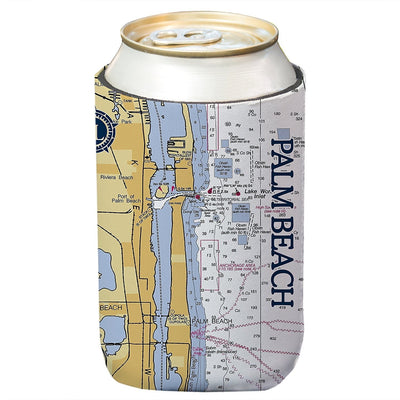 Altered Latitudes Palm Beach, FL Chart Standard Can Cooler (4-Pack)