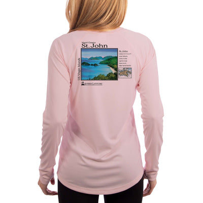 Island Classics St. John Women's UPF 50+ UV Sun Protection Long Sleeve T-shirt
