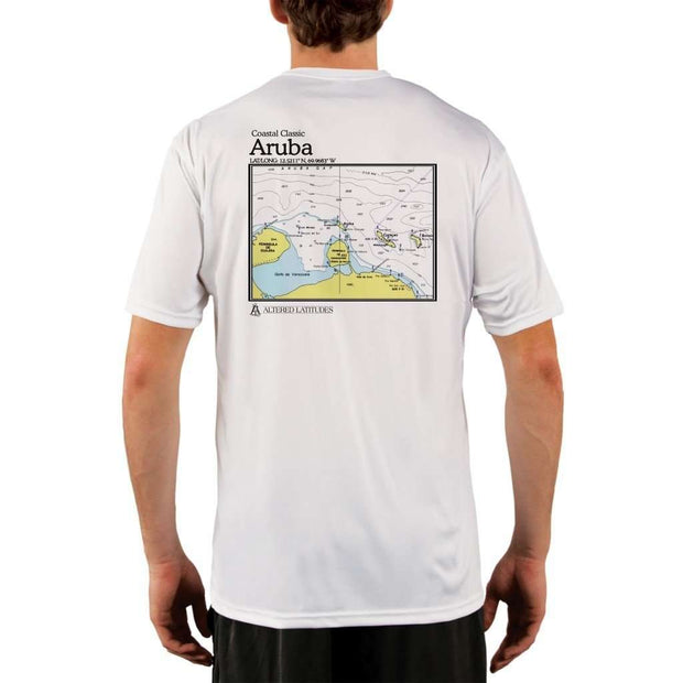 Coastal Classics Aruba Mens Upf 5+ Uv/sun Protection Performance T-Shirt White / X-Small Shirt