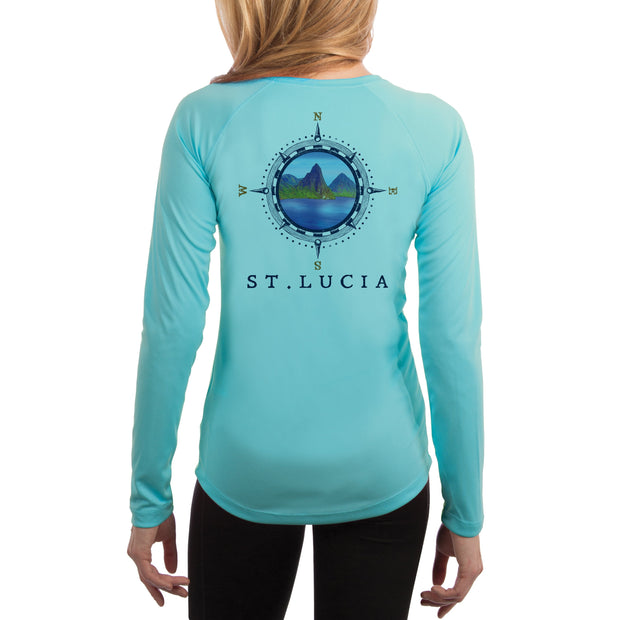 Compass Vintage St.Lucia Women's UPF 50+ Long Sleeve T-shirt