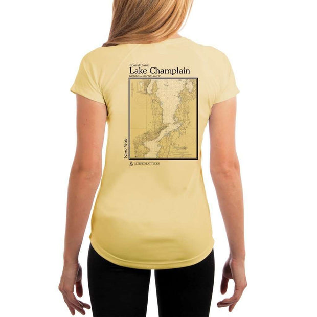 Coastal Classics Lake Champlain Womens Upf 5+ Uv/sun Protection Performance T-Shirt Pale Yellow / X-Small Shirt