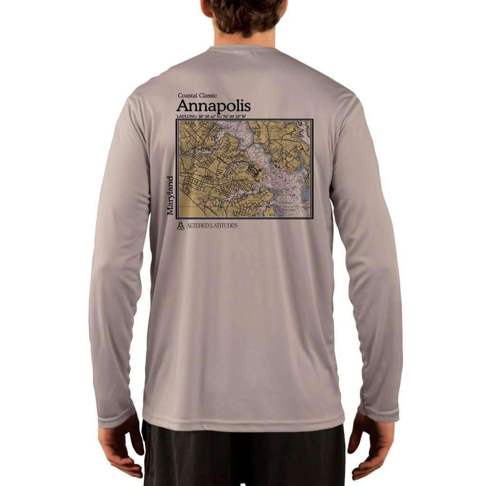 Coastal Classics Annapolis Mens Upf 5+ Uv/sun Protection Performance T-Shirt Athletic Grey / X-Small Shirt