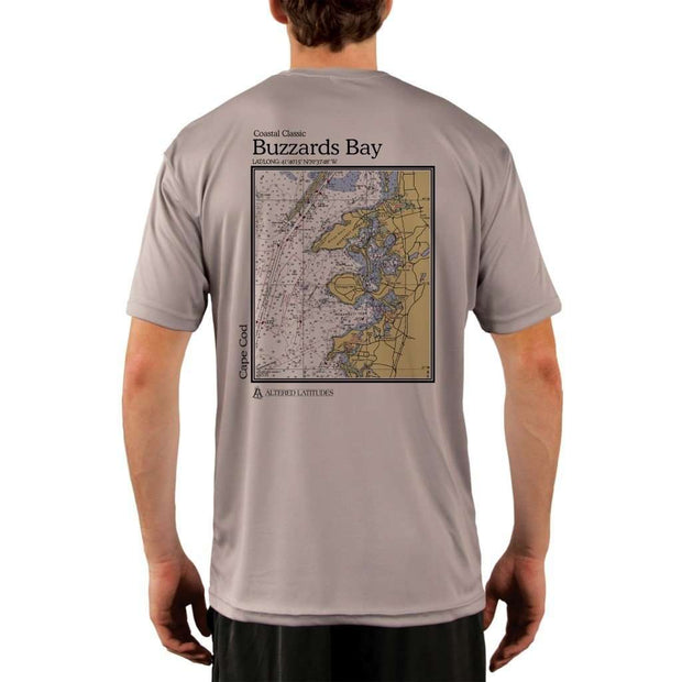Coastal Classics Buzzards Bay Mens Upf 5+ Uv/sun Protection Performance T-Shirt Athletic Grey / X-Small Shirt
