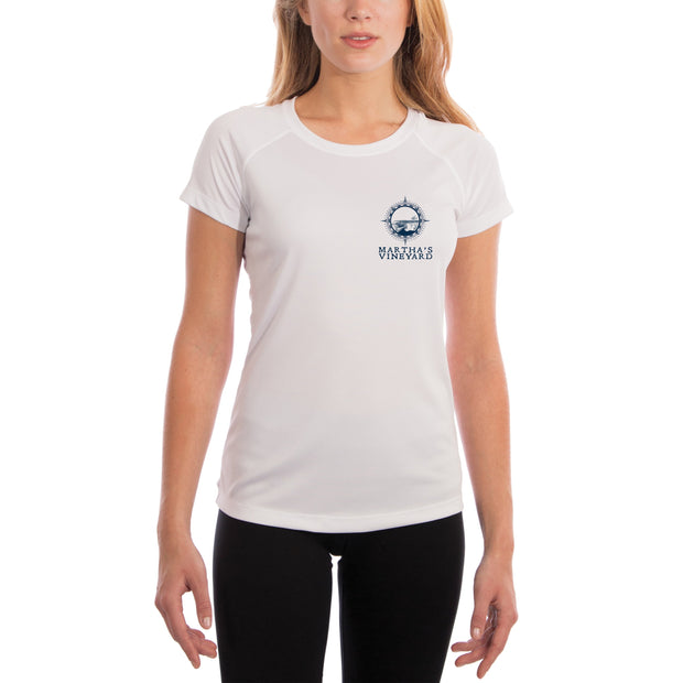Compass Vintage Marthas Vineyard Women's UPF 50+ Short Sleeve T-shirt