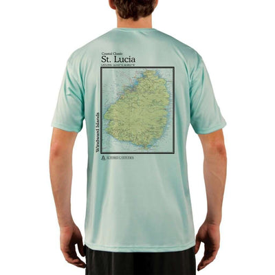 Coastal Classics St. Lucia Mens Upf 5+ Uv/sun Protection Performance T-Shirt Seagrass / X-Small Shirt