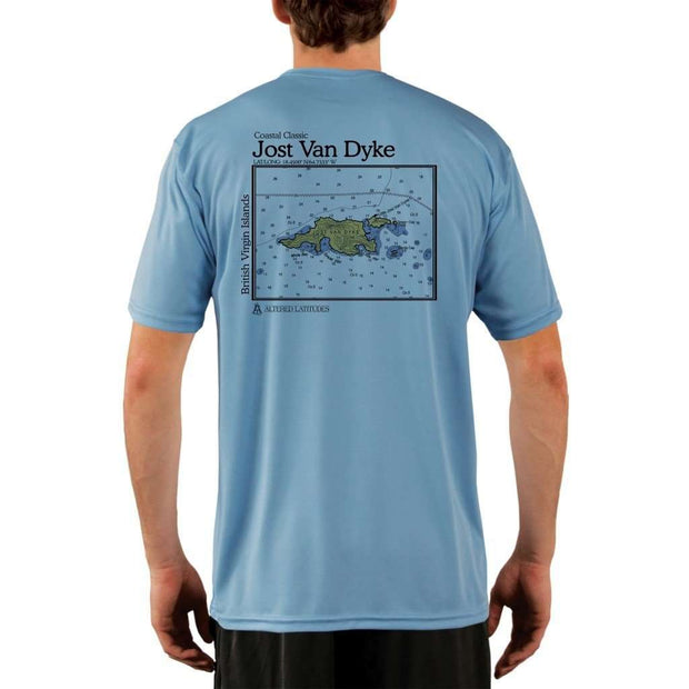 Coastal Classics Jost Van Dyke Mens Upf 5+ Uv/sun Protection Performance T-Shirt Columbia Blue / X-Small Shirt