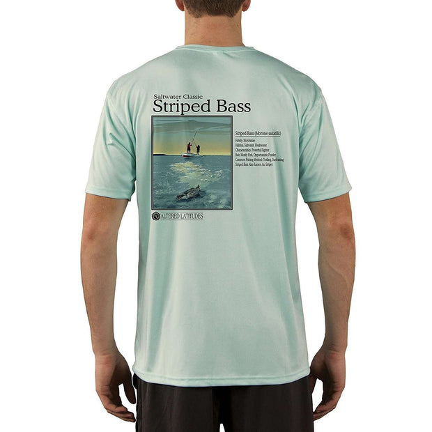 Saltwater Classic Striped Bass Men's UPF 50+ Short Sleeve T-Shirt