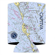 Altered Latitudes Captiva, FL Chart Standard Can Cooler (4-Pack)