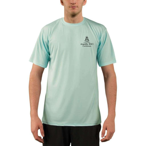 Coastal Classics Anguilla B.w.i. Mens Upf 5+ Uv/sun Protection Performance T-Shirt Shirt