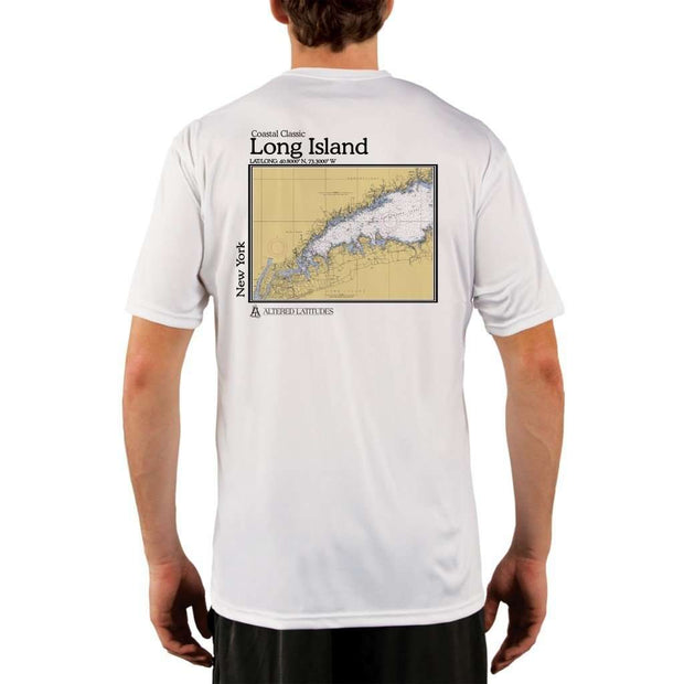 Coastal Classics Long Island Mens Upf 5+ Uv/sun Protection Performance T-Shirt White / X-Small Shirt
