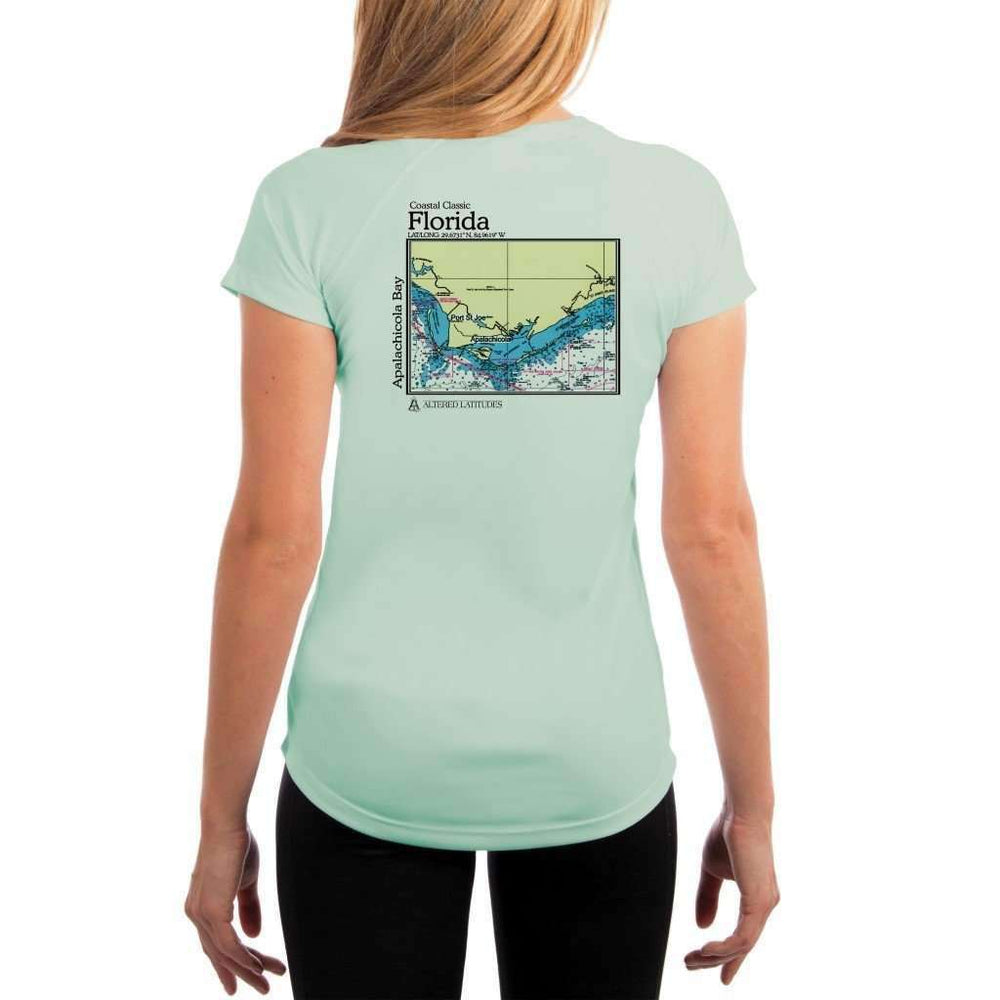 Coastal Classics Apalachicola Bay Womens Upf 5+ Uv/sun Protection Performance T-Shirt Seagrass / X-Small Shirt