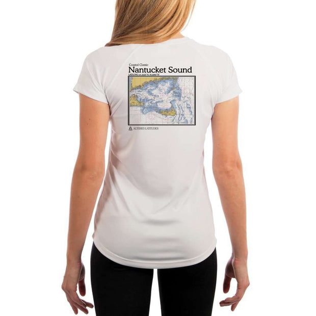 Coastal Classics Nantucket Sound Womens Upf 5+ Uv/sun Protection Performance T-Shirt White / X-Small Shirt