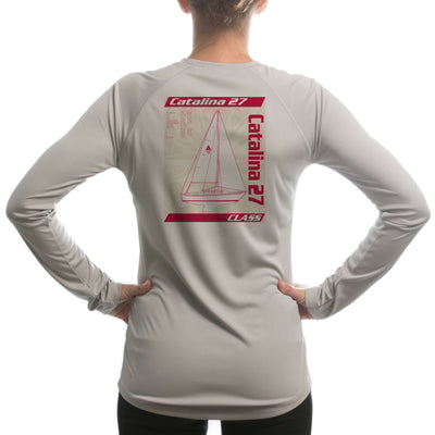 Catalina 27 Class Sailboat Women's UPF 5+ UV Sun Protection Long Sleeve T-shirt - Altered Latitudes