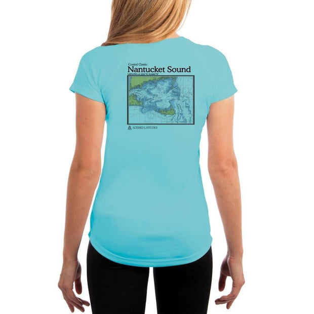 Coastal Classics Nantucket Sound Womens Upf 5+ Uv/sun Protection Performance T-Shirt Water Blue / X-Small Shirt