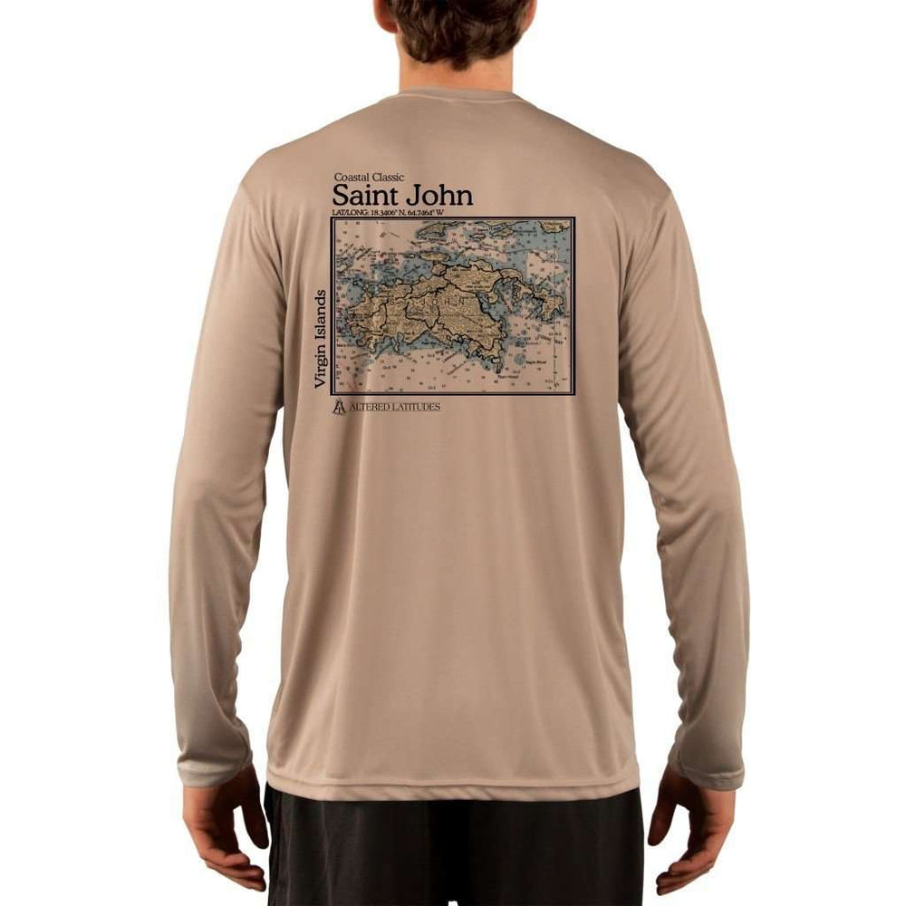 Coastal Classics Saint John Mens Upf 5+ Uv/sun Protection Performance T-Shirt Tan / X-Small Shirt