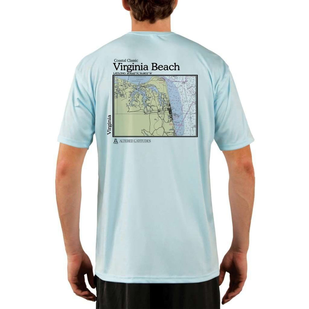Coastal Classics Virginia Beach Mens Upf 5+ Uv/sun Protection Performance T-Shirt Arctic Blue / X-Small Shirt