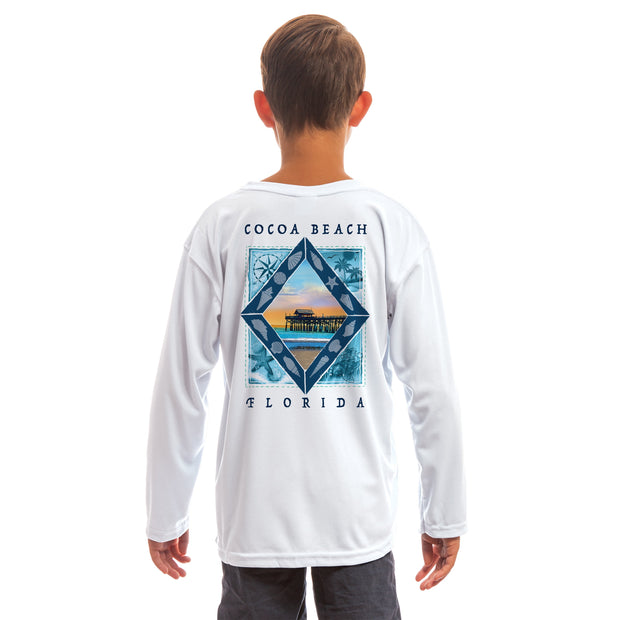 Coastal Quads Cocoa Beach Youth UPF 50+ UV/Sun Protection Long Sleeve T-Shirt