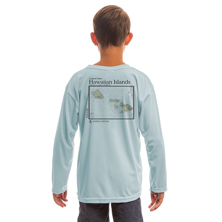 Coastal Classics Hawaiian Islands Youth UPF 50+ UV/Sun Protection Long Sleeve T-Shirt