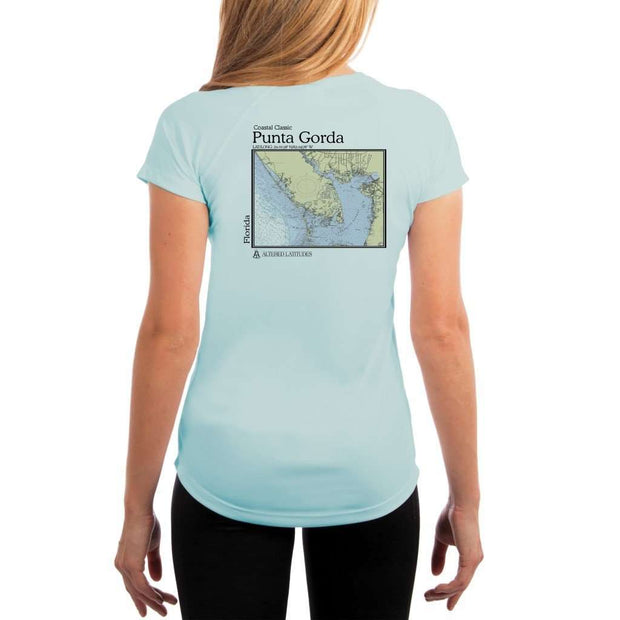 Coastal Classics Punta Gorda Womens Upf 5+ Uv/sun Protection Performance T-Shirt Arctic Blue / X-Small Shirt