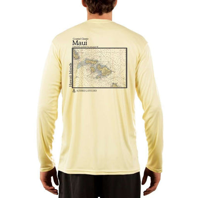 Coastal Classics Maui Mens Upf 5+ Uv/sun Protection Performance T-Shirt Pale Yellow / X-Small Shirt