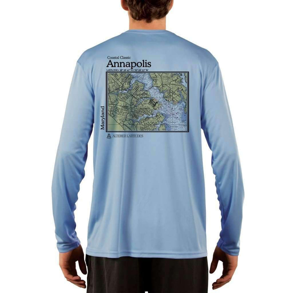 Coastal Classics Annapolis Mens Upf 5+ Uv/sun Protection Performance T-Shirt Columbia Blue / X-Small Shirt