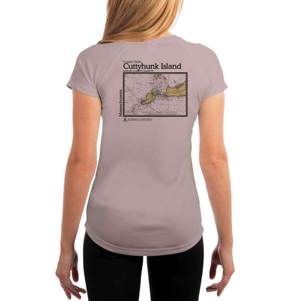 Coastal Classics Cuttyhunk Island Womens Upf 5+ Uv/sun Protection Performance T-Shirt Athletic Grey / X-Small Shirt