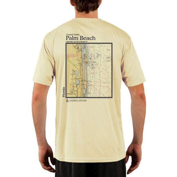 Coastal Classics Palm Beach Mens Upf 5+ Uv/sun Protection Performance T-Shirt Pale Yellow / X-Small Shirt