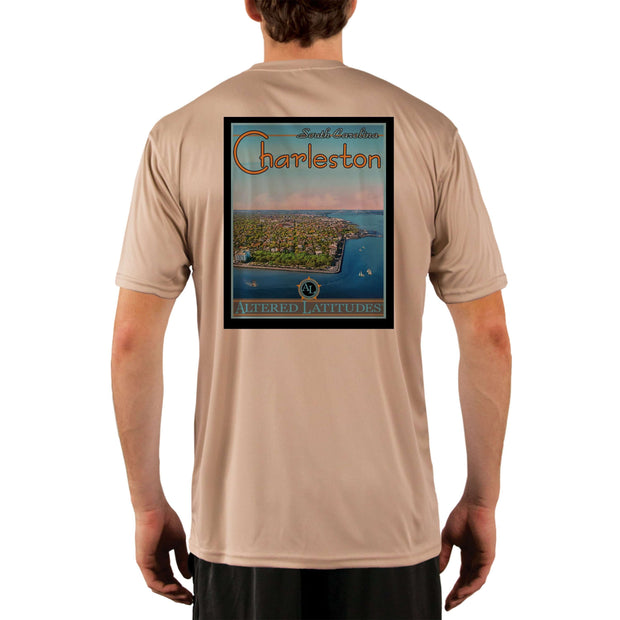 Vintage Destination Charleston Men's UPF 5+ UV Sun Protection Short Sleeve T-shirt - Altered Latitudes