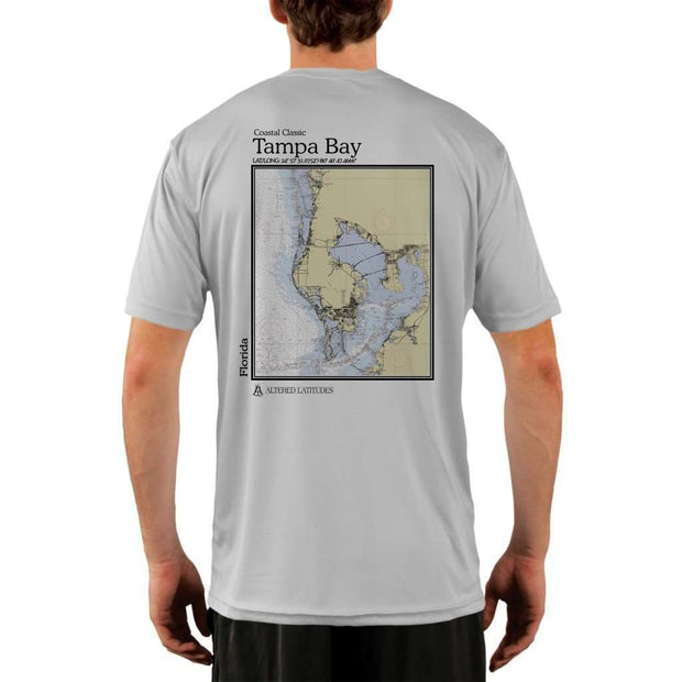 Coastal Classics Tampa Bay Mens Upf 5+ Uv/sun Protection Performance T-Shirt Pearl Grey / X-Small Shirt