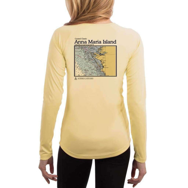 Coastal Classics Anna Maria Island Womens Upf 5+ Uv/sun Protection Performance T-Shirt Pale Yellow / X-Small Shirt