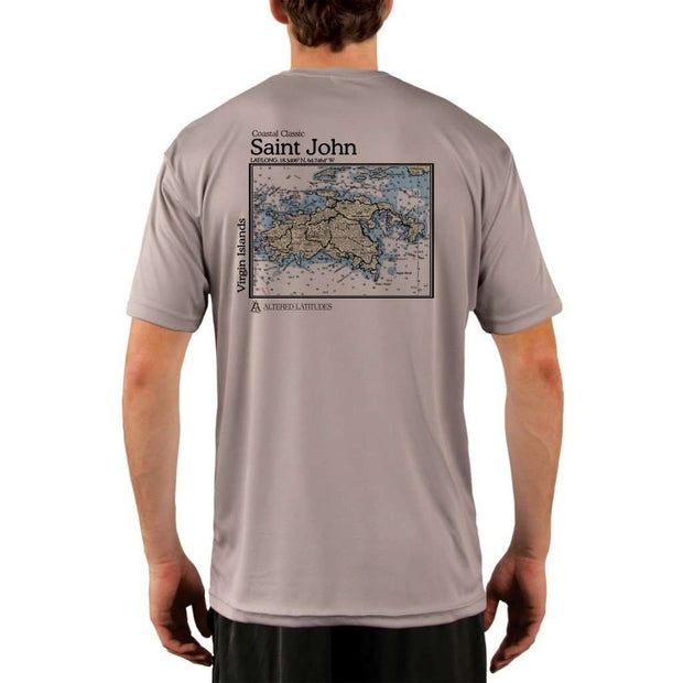 Coastal Classics Saint John Mens Upf 5+ Uv/sun Protection Performance T-Shirt Athletic Grey / X-Small Shirt