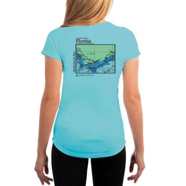 Coastal Classics Apalachicola Bay Womens Upf 5+ Uv/sun Protection Performance T-Shirt Water Blue / X-Small Shirt