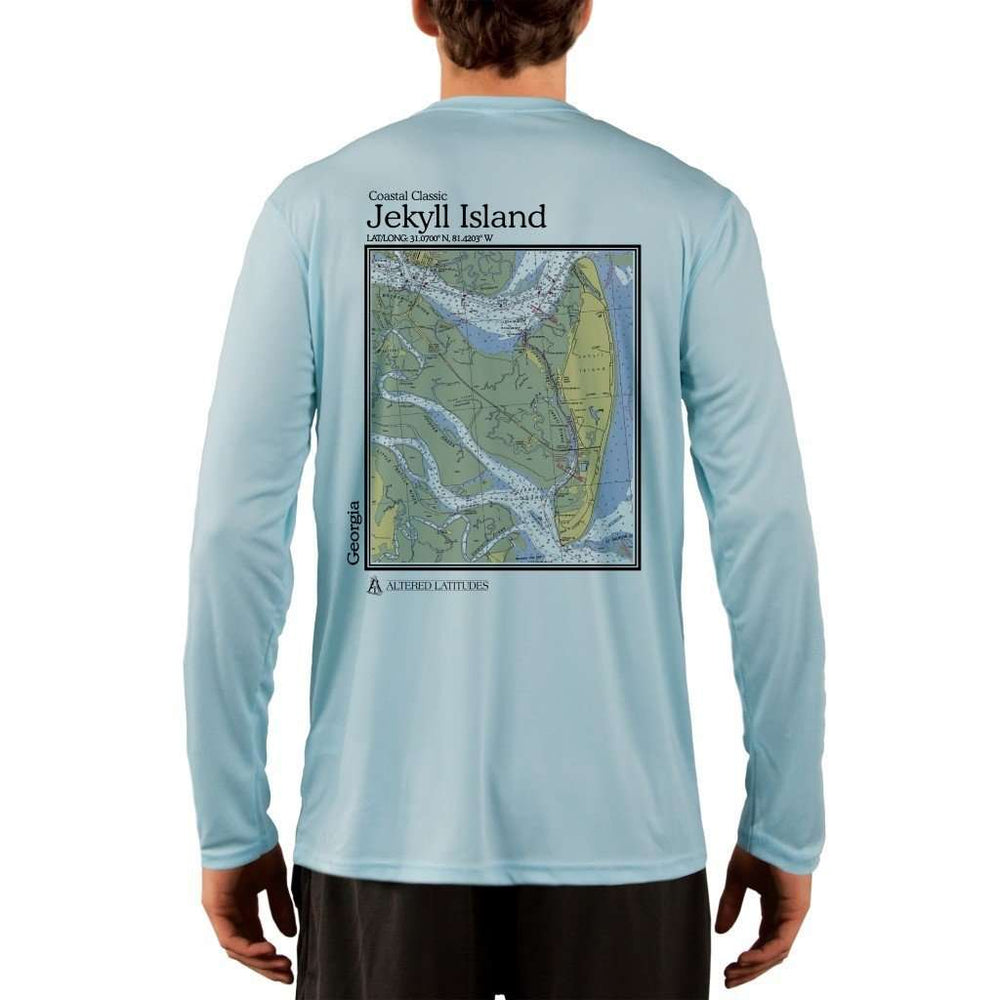 Coastal Classics Jekyll Island Mens Upf 5+ Uv/sun Protection Performance T-Shirt Arctic Blue / X-Small Shirt