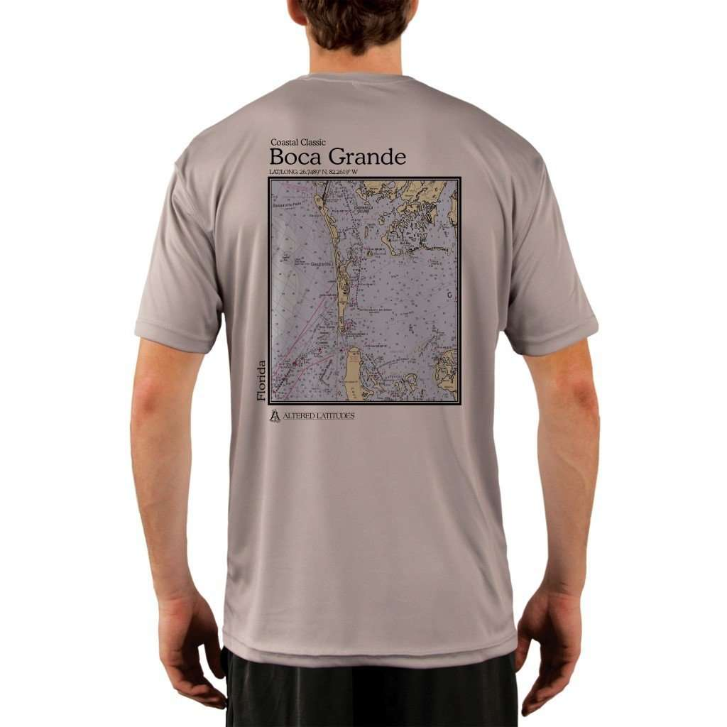 Coastal Classics Boca Grande Mens Upf 50+ Uv/sun Protection Performance T-Shirt Athletic Grey / X-Small Shirt