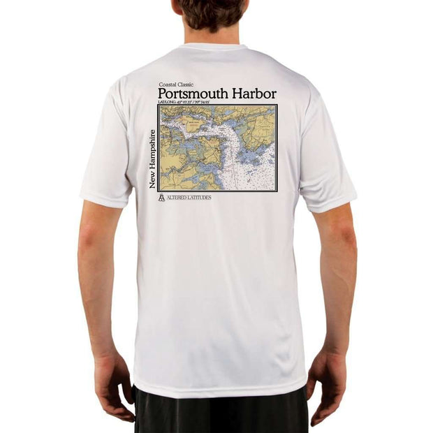 Coastal Classics Portsmouth Harbor Mens Upf 5+ Uv/sun Protection Performance T-Shirt White / X-Small Shirt