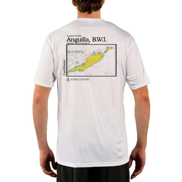 Coastal Classics Anguilla B.w.i. Mens Upf 5+ Uv/sun Protection Performance T-Shirt White / X-Small Shirt