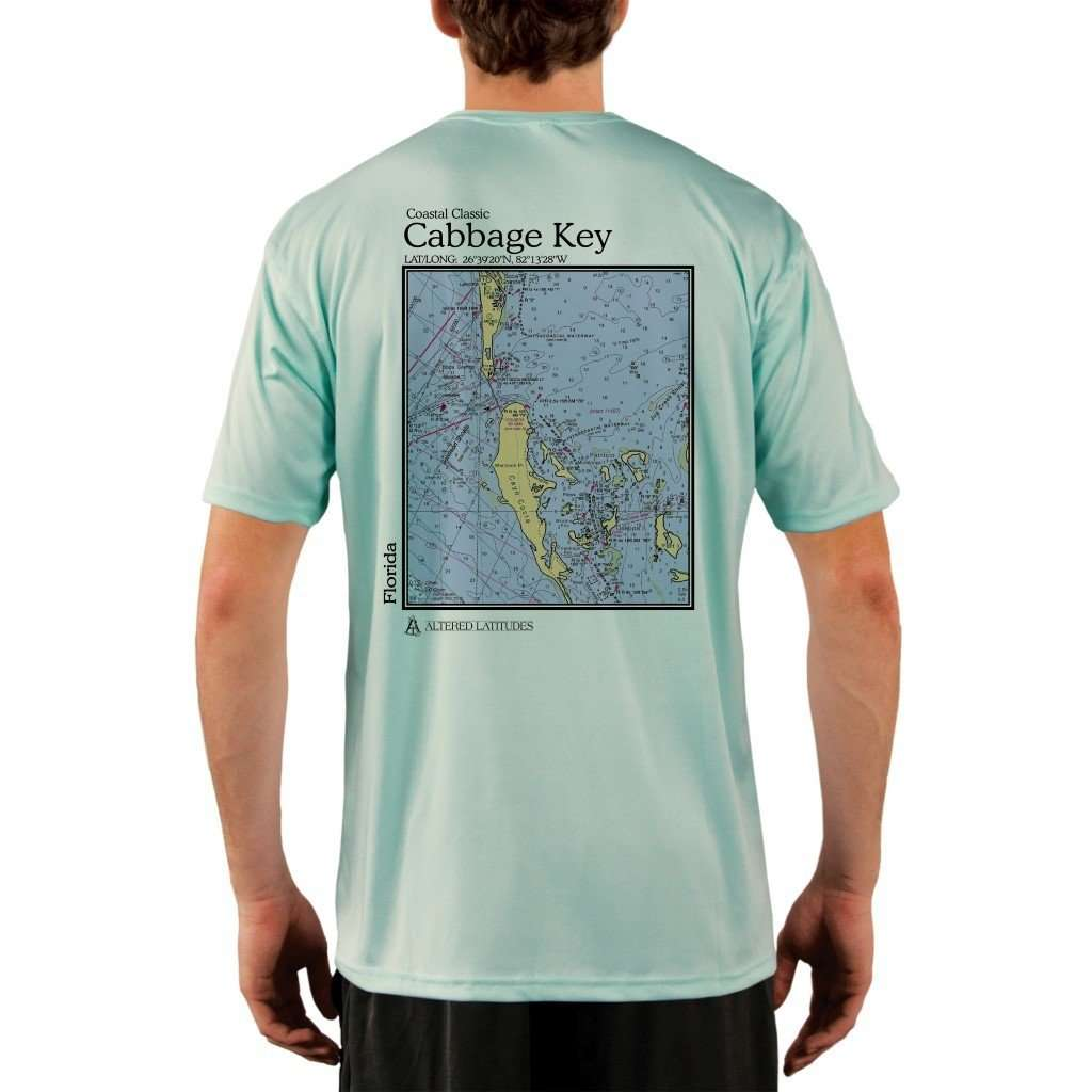Coastal Classics Cabbage Key Mens Upf 50+ Uv/sun Protection Performance T-Shirt Seagrass / X-Small Shirt