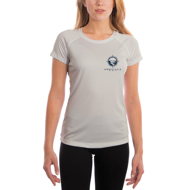 Compass Vintage Anguilla Women's UPF 50+ Short Sleeve T-shirt