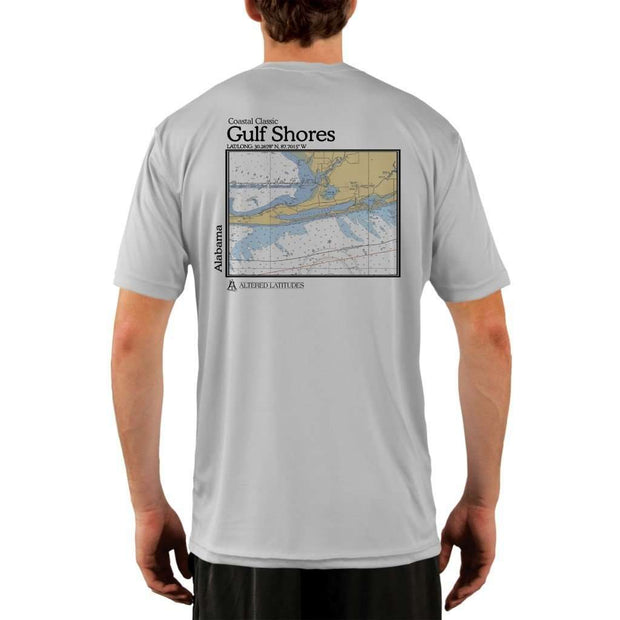Coastal Classics Gulf Shores Mens Upf 5+ Uv/sun Protection Performance T-Shirt Pearl Grey / X-Small Shirt