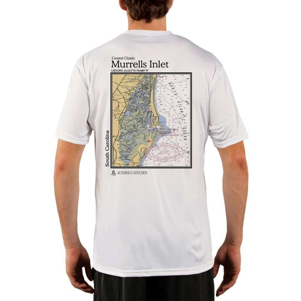 Coastal Classics Murrells Inlet Mens Upf 5+ Uv/sun Protection Performance T-Shirt White / X-Small Shirt