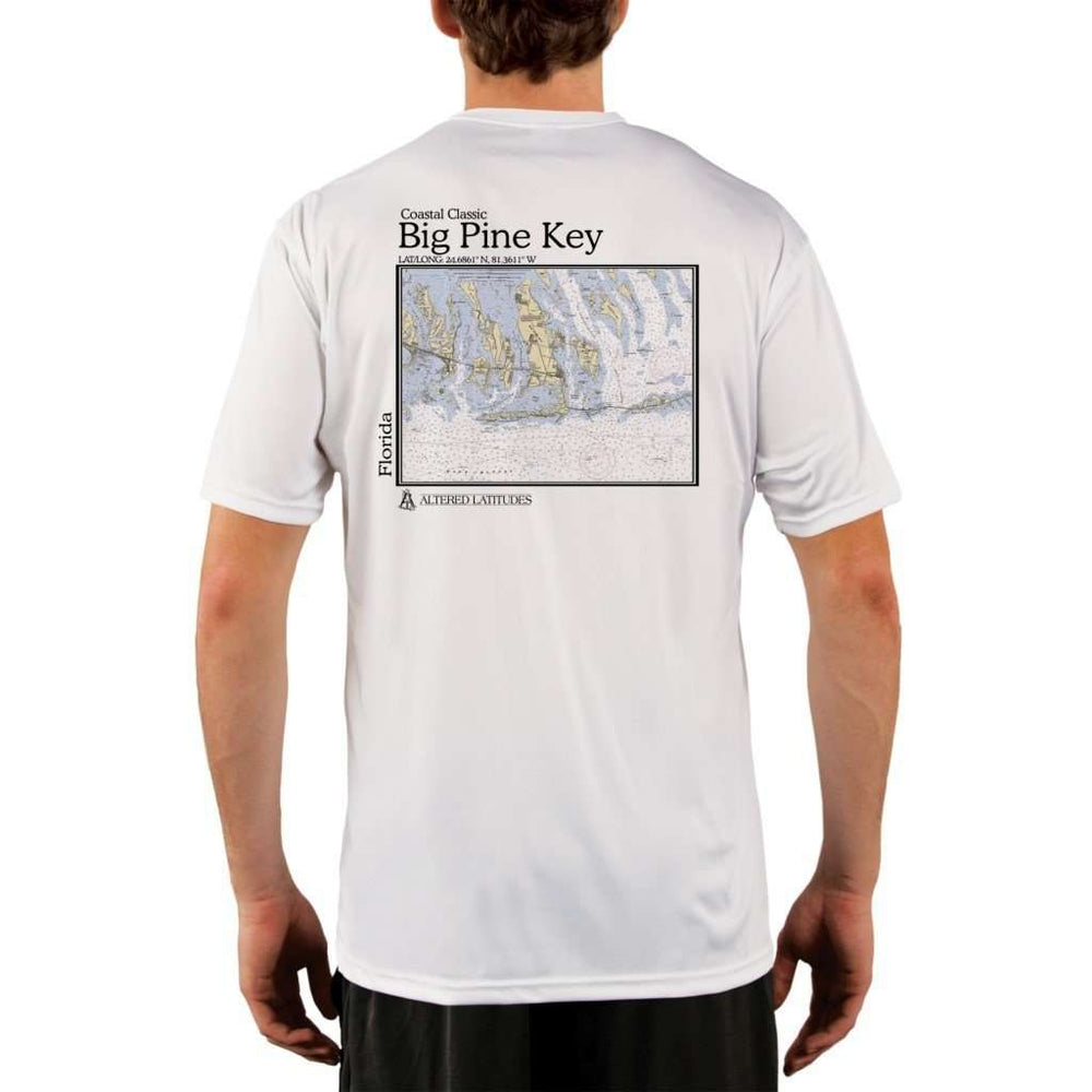Coastal Classics Big Pine Key Mens Upf 5+ Uv/sun Protection Performance T-Shirt White / X-Small Shirt