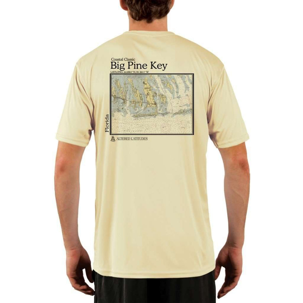 Coastal Classics Big Pine Key Mens Upf 5+ Uv/sun Protection Performance T-Shirt Pale Yellow / X-Small Shirt