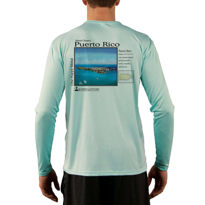 Island Classics Puerto Rico Men's UPF 50+ UV Sun Protection Long Sleeve T-Shirt