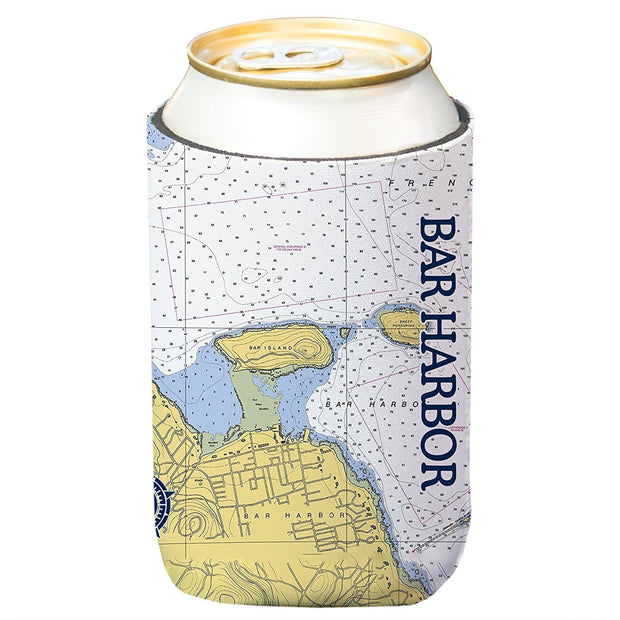 Altered Latitudes Bar Harbor Chart Standard Can Cooler (4-Pack)
