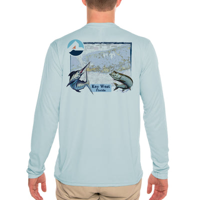 Fish Charts Key West Men's UPF 50+ Long Sleeve T-Shirt