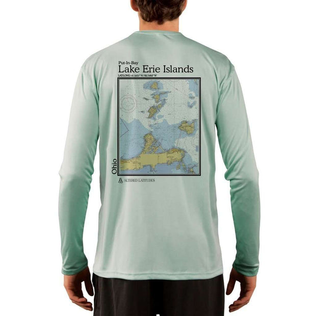 Coastal Classics Lake Erie Islands Mens Upf 5+ Uv/sun Protection Performance T-Shirt Seagrass / X-Small Shirt