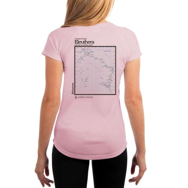 Coastal Classics Eleuthera Womens Upf 5+ Uv/sun Protection Performance T-Shirt Pink Blossom / X-Small Shirt