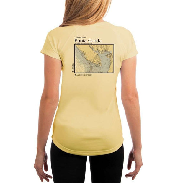 Coastal Classics Punta Gorda Womens Upf 5+ Uv/sun Protection Performance T-Shirt Pale Yellow / X-Small Shirt