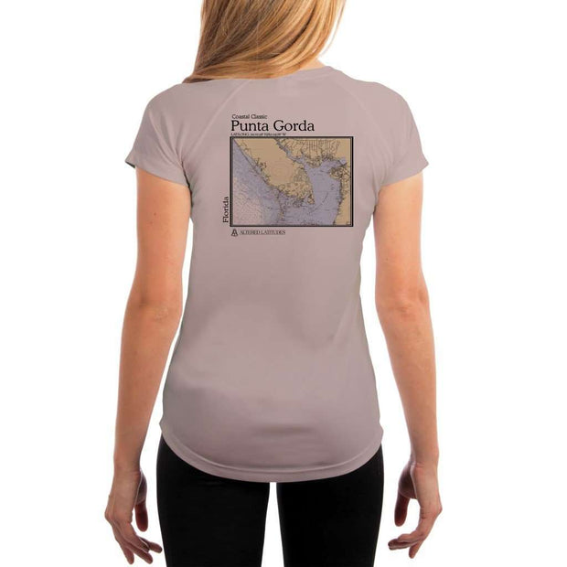 Coastal Classics Punta Gorda Womens Upf 5+ Uv/sun Protection Performance T-Shirt Athletic Grey / X-Small Shirt